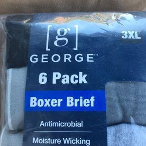 Men's GEORGE 6pk Boxer Brief 3XL